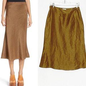 Simon Miller Mayer Silk Linen Midi Skirt, Medium/6